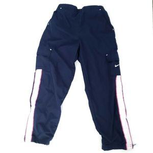 Nike Girls Navy Blue Windbreaker Pants Pink 6X